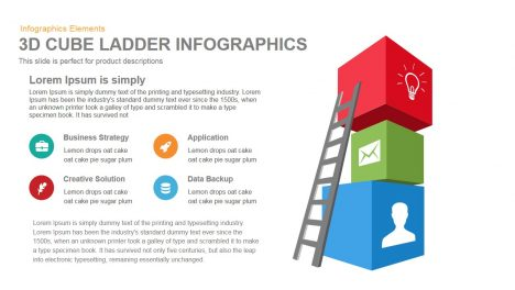 3d Cube Ladder Infographics Powerpoint Keynote template