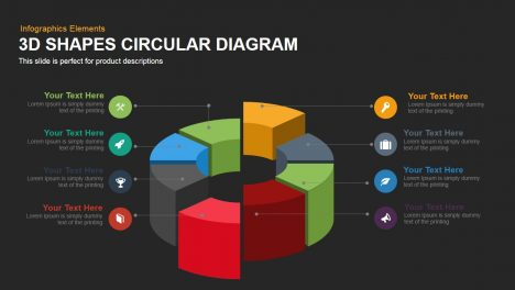 3d Shapes Circular Diagram Powerpoint Keynote template