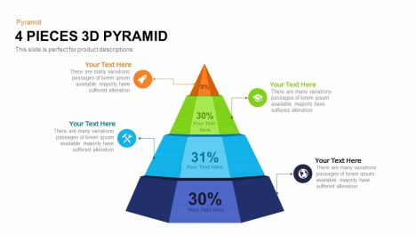 4 Pieces 3d Pyramid Powerpoint and Keynote template