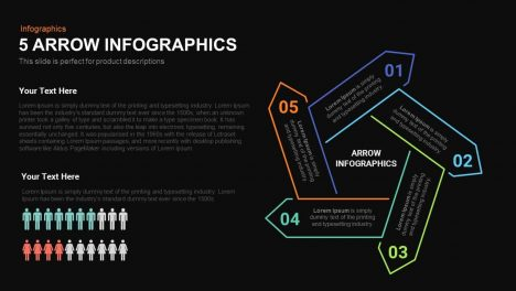 5 Infographics Arrows Powerpoint and Keynote template