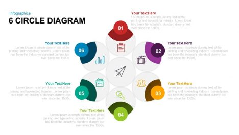 6 Circle Diagram PowerPoint Template and Keynote Template