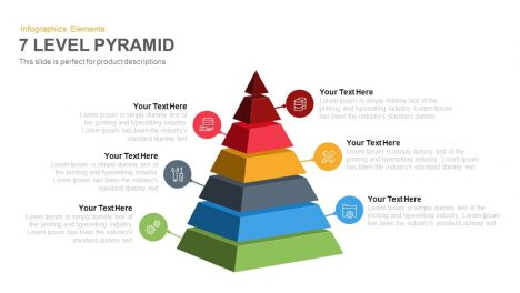 7 Level Pyramid Template for PowerPoint and Keynote Slide