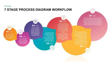 7 Stage Process Diagram Workflow PowerPoint Template