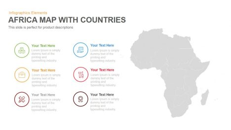 Africa Map With Countries Powerpoint Keynote template 1