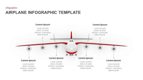 Airplane PowerPoint Template for Infographic Presentation