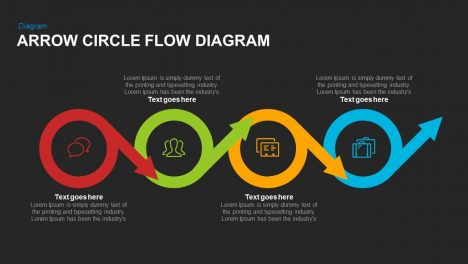 Arrow Circle Flow Diagram Powerpoint and Keynote template