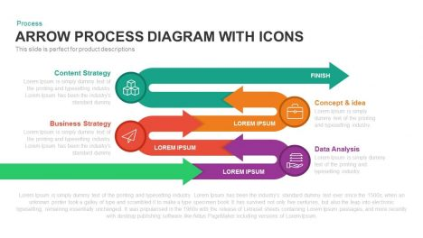 Arrow Process Diagram with Icons