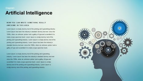 Artificial intelligence powerpoint template - Human Head Silhouette and keynote template
