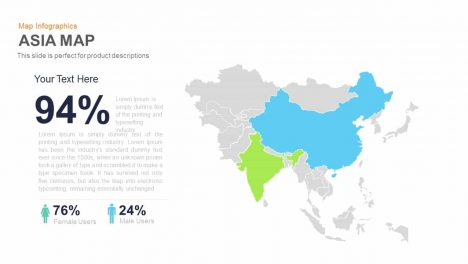 Asia Map Powerpoint and Keynote template