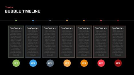Bubble Timeline PowerPoint template