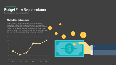 Budget Flow Representation PowerPoint Template and Keynote