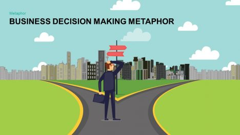 Business Decision Making Metaphor PowerPoint and Keynote template