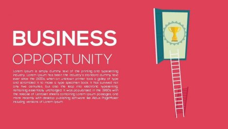 Business Opportunity Metaphor Powerpoint and Keynote template