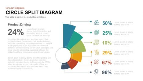 Circle Split Diagram Powerpoint and Keynote template