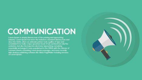 Communication Metaphor Powerpoint and Keynote Template