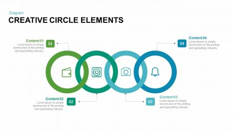 Creative circle elements PowerPoint template and keynote