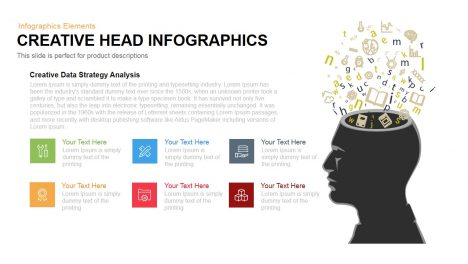Creative Head Infographics Powerpoint Keynote template
