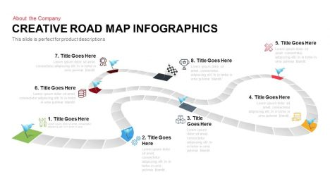 Creative Infographics Roadmap PowerPoint Template and Keynote Slide