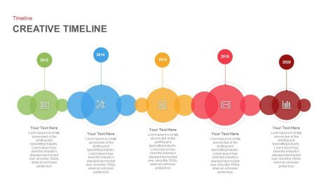 Creative Timeline PowerPoint Template and Keynote