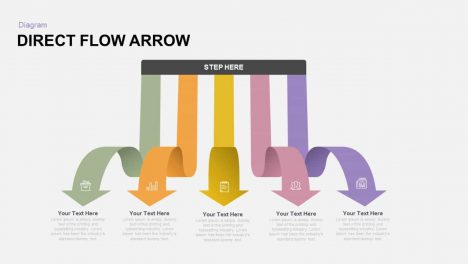 Direct Flow Arrow Powerpoint and Keynote template