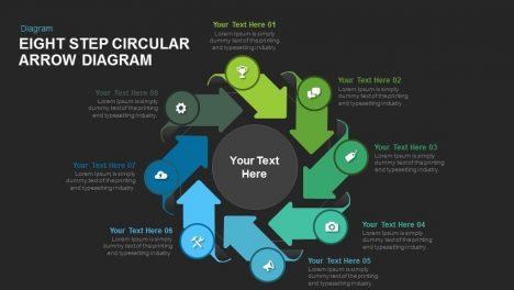 Circular diagrams page 3 of 8 slidebazaar eight step circular arrow diagram powerpoint and keynote template ccuart Gallery