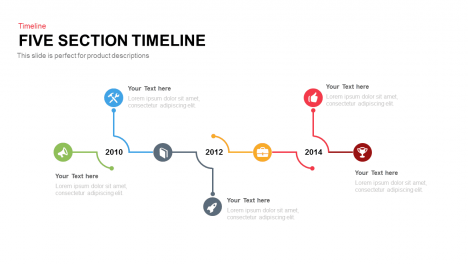 Five Section Timeline