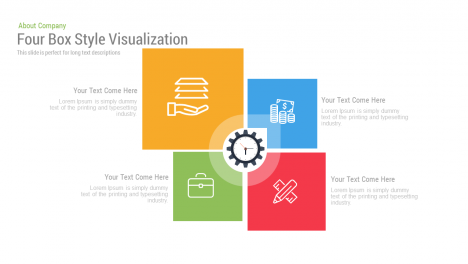 4 box powerpoint template / Four Box Style Visualization Free PowerPoint and Keynote template