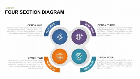 Four Section Diagram Powerpoint and Keynote template