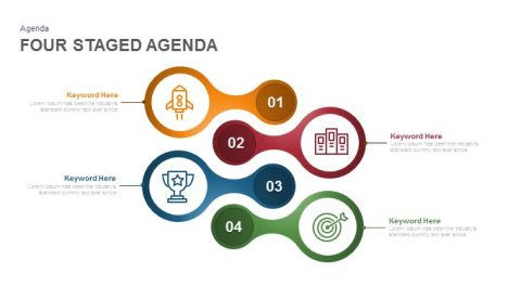 Four Staged Agenda Powerpoint and Keynote Template