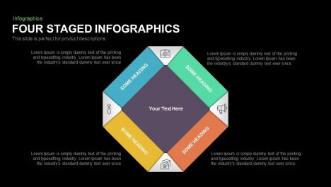 Four Staged Infographics Powerpoint and Keynote template