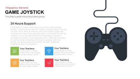Game Joystick Powerpoint Keynote template