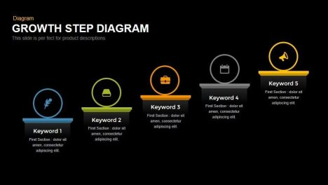 Growth Step Diagram Powerpoint and Keynote template