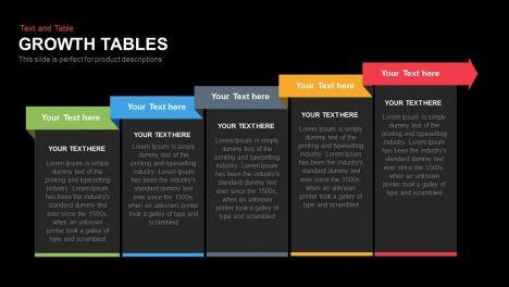Growth Tables PowerPoint Presentation Template
