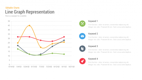 Line Chart Representation PowerPoint Templates