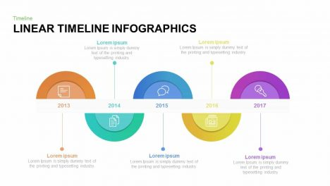 Linear Timeline Infographics Powerpoint and Keynote template
