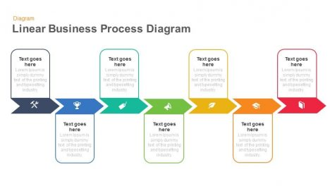 Linear Business Process Diagrams Keynote And Powerpoint Template