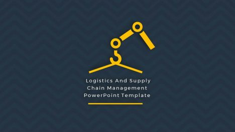 Logistics and supply chain management PowerPoint template