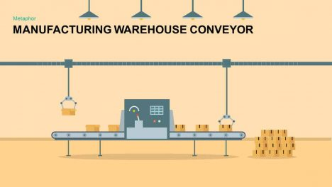 Manufacturing Warehouse Conveyor PowerPoint Template