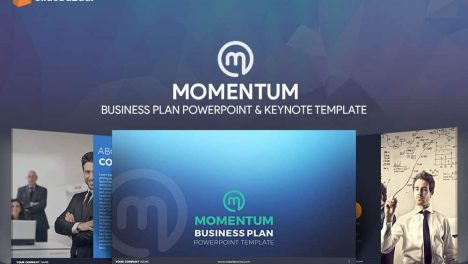 Momentum Business Plan Powerpoint Template-Thumbnail