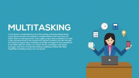 Multitasking Metaphor Powerpoint and Keynote Template
