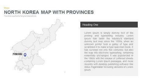 North Korea Map Powerpoint and Keynote template