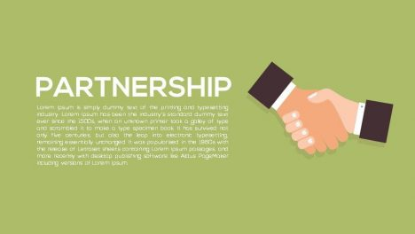Partnership Metaphor Powerpoint and Keynote template