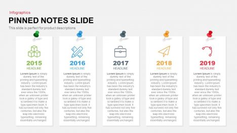 Pinned Notes Slide Powerpoint and Keynote template