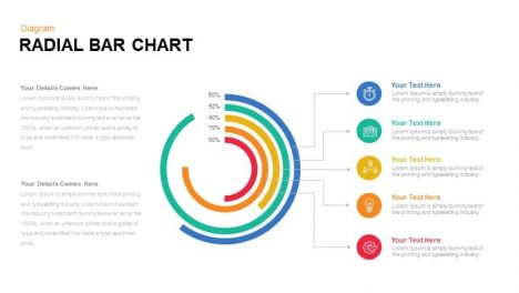 Radial Bar Chart Powerpoint template