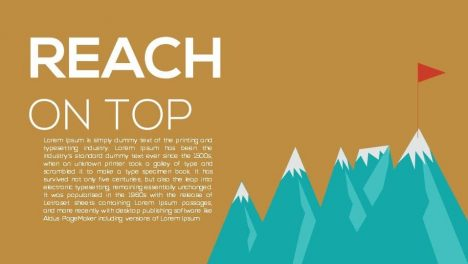 Reach On Top Metaphor Powerpoint and Keynote template