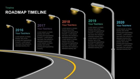Timeline Roadmap PowerPoint Template and Keynote template