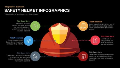 safety helmet PowerPoint template and keynote