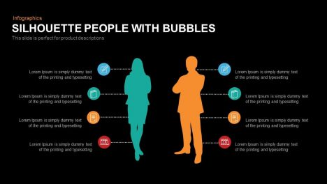 Silhouette People with Bubbles