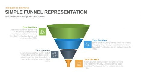 Simple Representation Funnel PowerPoint Template and Keynote