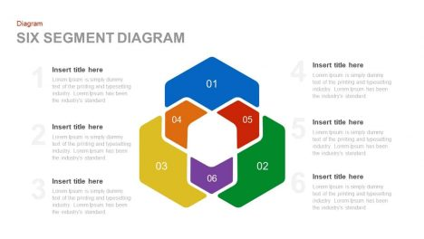 Six Segment Diagram PowerPoint and Keynote template